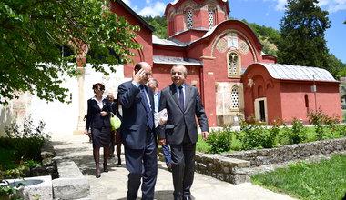 SRSG Zahir Tanin(R), DSRSG Christopher Coleman (L), walking the Peja/Peć Patriarchate. 2016©UNMIK Poto by: Shpend Bërbatovci