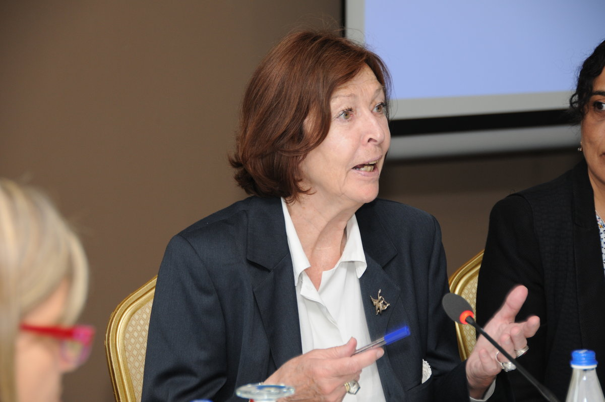 Judge Renate Winter, Vice President of the UN Committee on the Rights of the Child and Judge for the Hybrid Court of Sierra Leone facilitated the two days brainstorming - 2016©UNMIK Photo by: Arton Muçolli