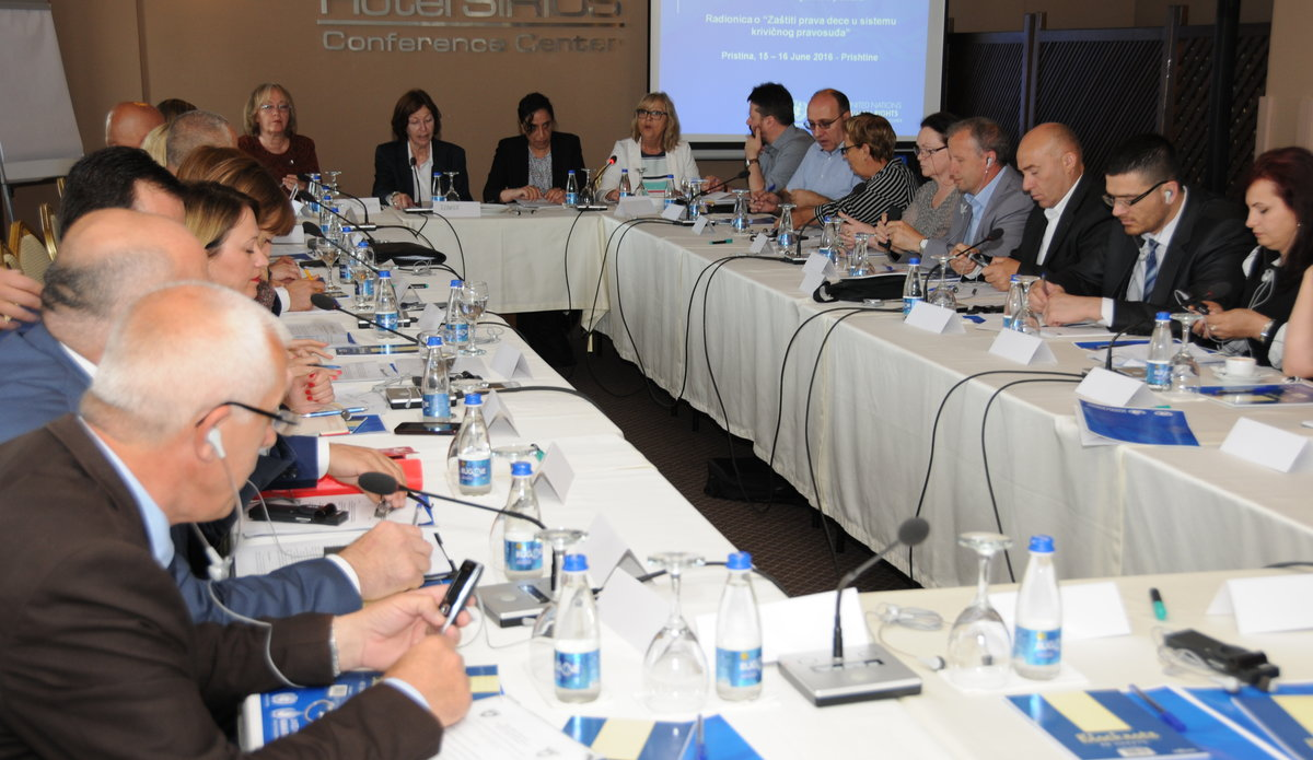 Representatives of the Assembly of Kosovo, the Ministry of Justice and the correctional services, child rights experts, judges, prosecutors, lawyers, civil society and international organizations participated in the workshop - 2016©UNMIK Photo by: Arton Muçolli