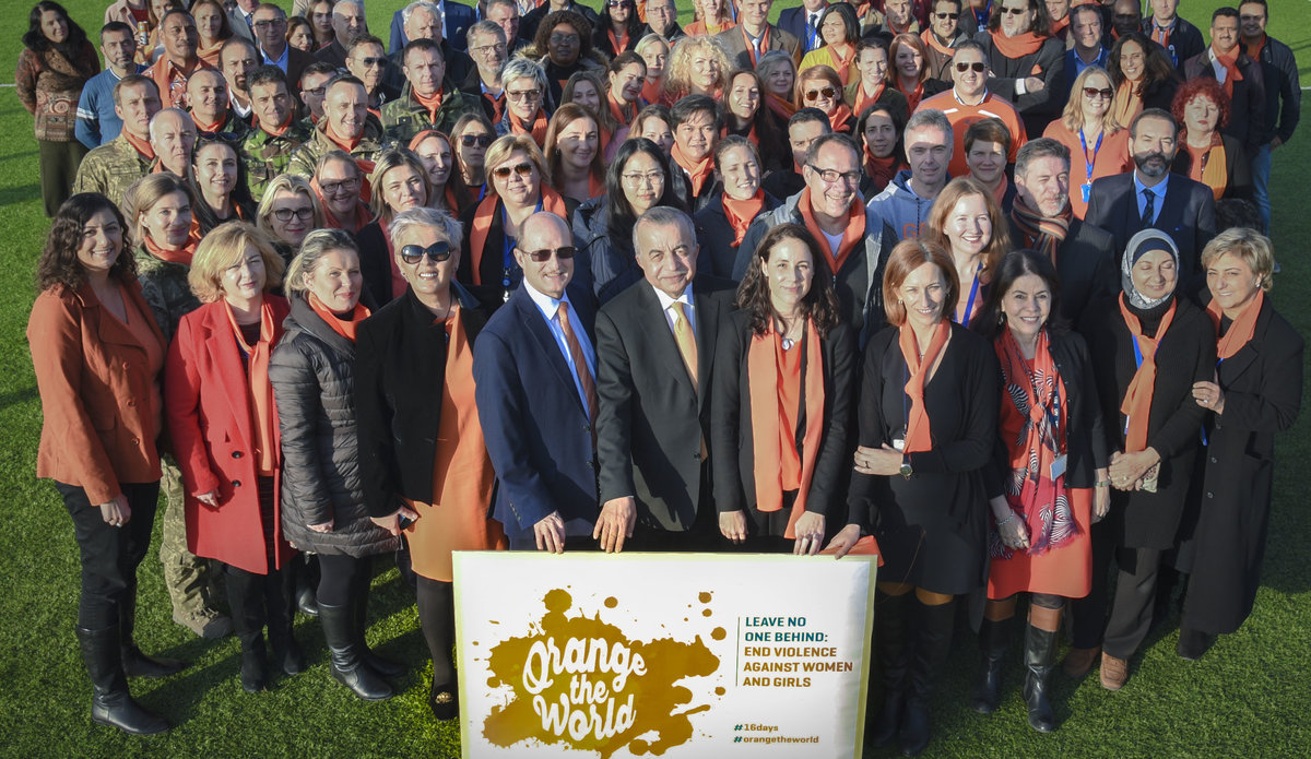 unmik goes orange to mark the launch of the 16 days of