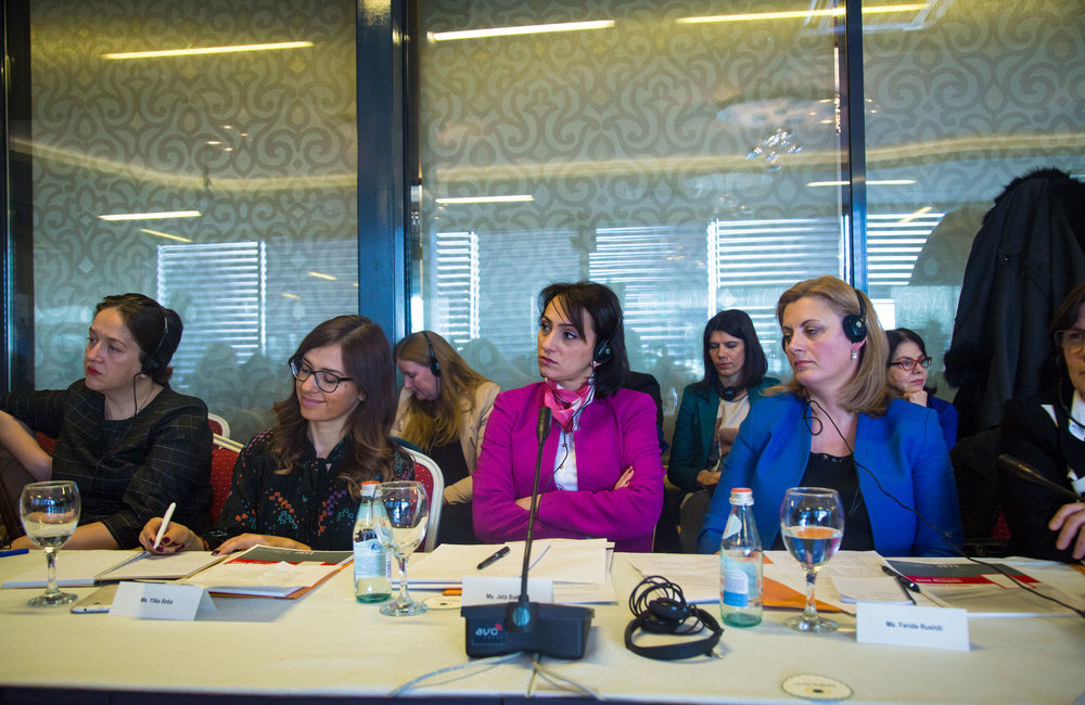 Panelists during the second panel of the UN's fifth Global Open Day in Kosovo.