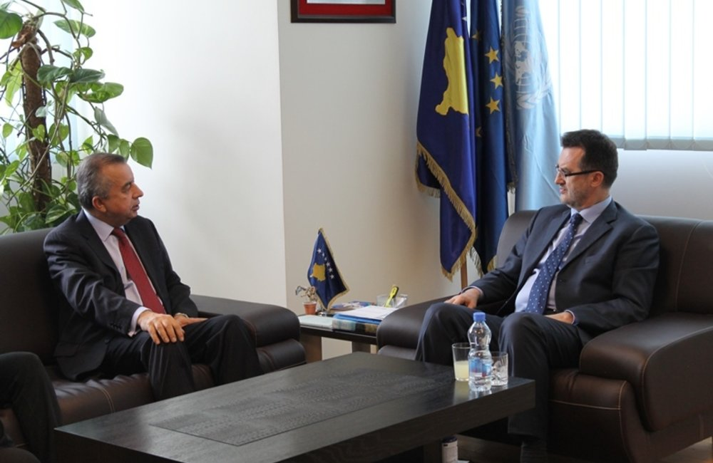 19 February 2016, Pristina - The Special Representative of the Secretary-General (SRSG), Zahir Tanin, was received by Minister of Environment and Spatial Planning, Ferid Agani.
