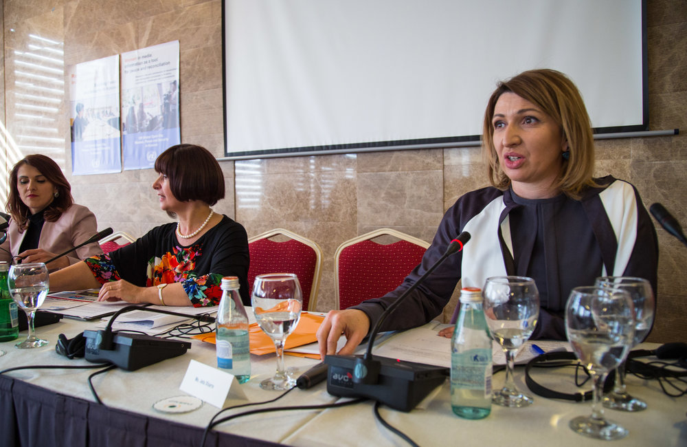 BIRN Kosovo Director and TV host Jeta Xharra talks about her experiences holding politicians accountable during the third and final panel on Global Open Day.