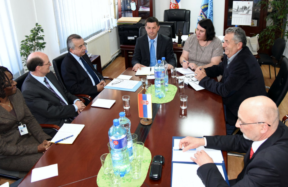 SRSG Zahir Tanin and UNMIK team meeting with Mr. Zoran Todić, Chairperson of the Municipal Assembly, Leposavić/Leposaviq. 2016©UNMIK Poto by: Shpend Bërbatovci
