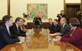 SRSG Tanin Meets Serbian President and First Deputy Prime Minister / Foreign Minister during Regular Consultations in Belgrade