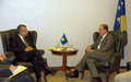 SRSG Tanin meets Kosovo Foreign Minister, Enver Hoxhaj