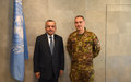 SRSG Tanin Welcomes New KFOR Commander, MG Salvatore Cuoci