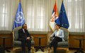 SRSG Tanin holds regular consultations in Belgrade ahead of the next UN Security Council session on Kosovo