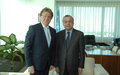 SRSG TANIN MEETS THE CHARGÉ D'AFFAIRES OF THE EMBASSY OF NORTH MACEDONIA, MR. TONI PETROVSKI