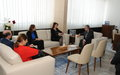 SRSG Tanin met with former President of Kosovo, Ms Atifete Jahjaga