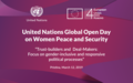 2019 UN Global Open Day Final Report: 'Trust-builders and Deal-Makers: Advancing the Women, Peace and Security Agenda in Kosovo'