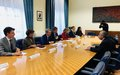 SRSG Tanin meets with Undersecretary of State of Italy