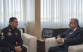 SRSG Tanin Meets the New MSU Carabinieri Regiment Commander, Colonel Marco Di Stefano