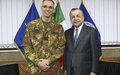 SRSG TANIN MEETS KFOR COMMANDER, MG MICHELE RISI