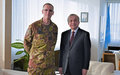 SRSG TANIN WELCOMES NEW COMMANDER OF KFOR, MG MICHELE RISI