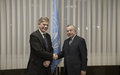SRSG TANIN WELCOMES NEW HEAD OF EULEX, AMBASSADOR LARS-GUNNAR WIGEMARK