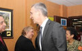 SRSG Tanin Meets NATO Secretary General, Jens Stoltenberg