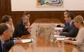 SRSG TANIN MEETS SERBIAN PRESIDENT AND FIRST DEPUTY PRIME MINISTER / FOREIGN MINISTER