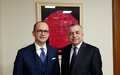 SRSG TANIN MEETS FOREIGN MINISTER OF ALBANIA IN ADVANCE OF UN SECURITY COUNCIL DEBATE ON KOSOVO